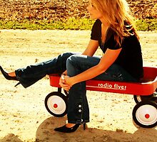 Childhood Radio Flyer by Regina  Kappelman