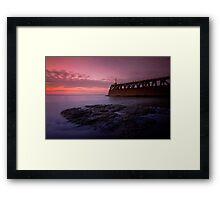 Maryport Pier Just After Sunset Framed Print