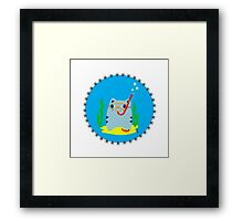 Steve: Under the sea Framed Print