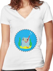 Steve: Under the sea Women's Fitted V-Neck T-Shirt