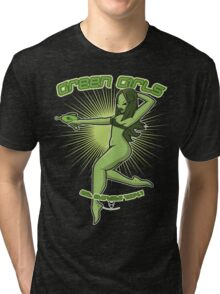Green Girls Have More Fun Tri-blend T-Shirt