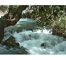 Banias Waterfall Israel Photographic Print