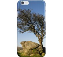 Lone tree on Dartmoor iPhone Case/Skin