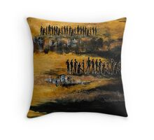 Humanity, or out of order (part 1) Throw Pillow