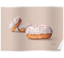 Three Ring Doughnuts, with sprinkles Poster
