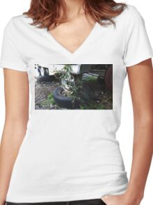 The Coming Of Nature Women's Fitted V-Neck T-Shirt