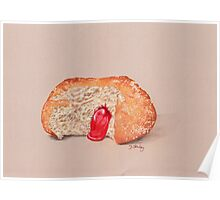 Jam Doughnut, gooey gorgeousness Poster