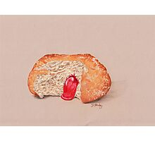 Jam Doughnut, gooey gorgeousness Photographic Print