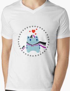 Steve loves Asexuals Mens V-Neck T-Shirt