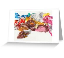 Chocolates, lots of soft centres Greeting Card