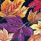 Colours of Autumn - Abstract by © Linda Callaghan