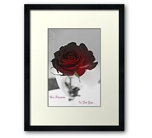 His Passion Framed Print