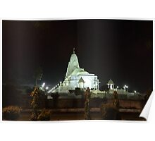 A temple at night. Poster