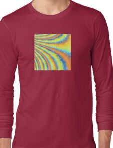 Aqua, Orange, and Yellow Curves Long Sleeve T-Shirt