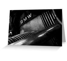 BMW Engine Greeting Card