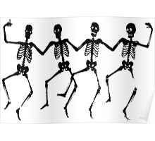 Spooky Scary Skeletons, Silhouette Poster