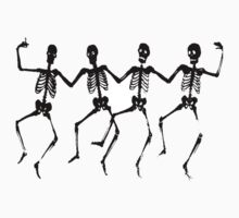 Spooky Scary Skeletons, Silhouette by tshirtdesign