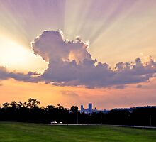 Sunset from the Schenley Oval, Pittsburgh, PA by Susana Weber