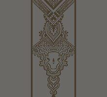 Gray pattern with ornamental design by amekamura