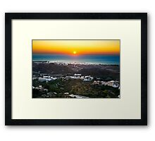 Sunrise in top Mojacar Framed Print