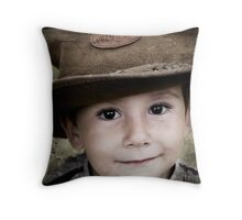 """Me not little, me big!"" Throw Pillow"