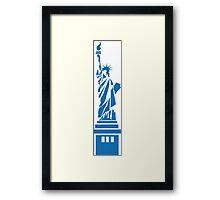 The Statue of Liberty, New York, America, Silhouette Framed Print