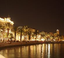 Seafront at Night - Split, Croatia by BeckyMP