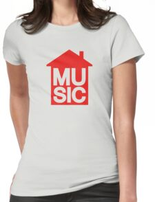 House Music Womens Fitted T-Shirt