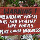 Warning Sign in Garden by Lynne Kells (earthangel)