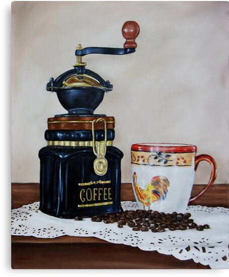 """Coffee Time"" - Oil painting by Avril Brand"
