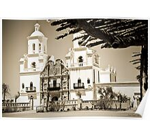 Mission San Xavier del Bac - Print Poster