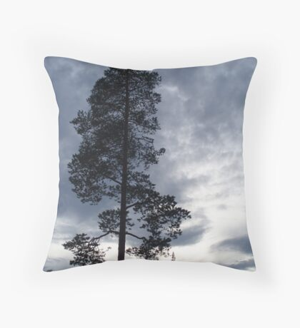 A Lonely Pine Tree Throw Pillow