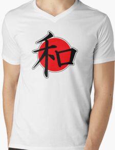 Peace Japanese Kanji Mens V-Neck T-Shirt