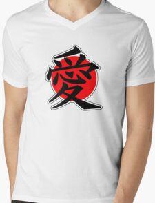 Love Japanese Kanji Mens V-Neck T-Shirt