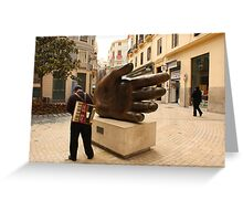The whole world in his hand! Greeting Card