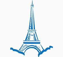 The Eiffel Tower, Paris, Silhouette Womens Fitted T-Shirt