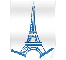The Eiffel Tower, Paris, Silhouette Poster