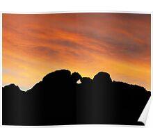 Sunset over Garden of the Gods Poster