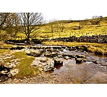 Cray Gill Stepping Stones Photographic Print