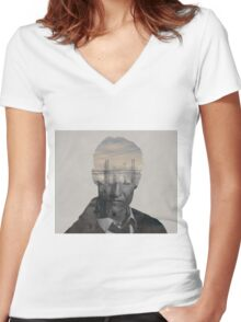 True Detective - Rust Cohle  Women's Fitted V-Neck T-Shirt