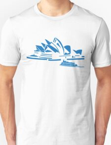 The Sydney Opera House w/ Ferry Boat Silhouette T-Shirt