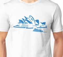 The Sydney Opera House w/ Ferry Boat Silhouette Unisex T-Shirt