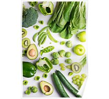 Green food on white Poster