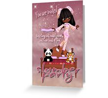 Slumber Party Invitation Card  Greeting Card