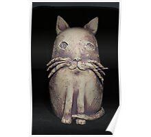 Cat Post Sitter Iron Oxide Carcoar Poster