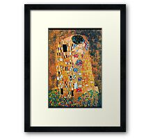Gustav Klimt - The kiss  Framed Print
