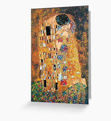 Gustav Klimt - The kiss  Greeting Card