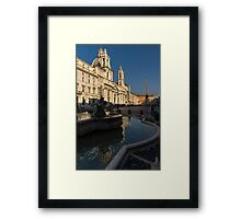 Shadow and Light - Piazza Navona in Rome, Italy  Framed Print