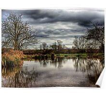 Pond on the Water Meadows - Winchester Poster
