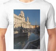 Shadow and Light - Piazza Navona in Rome, Italy  Unisex T-Shirt